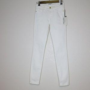 Frame Denim Le Skinny de Jeanne Jeans in Blanc 27